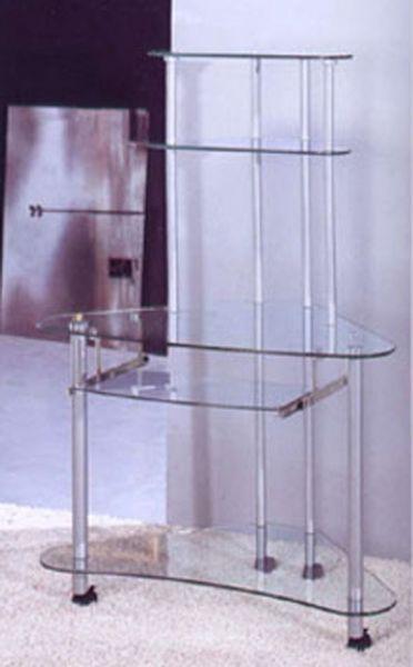 Steel Glass Computer Desk