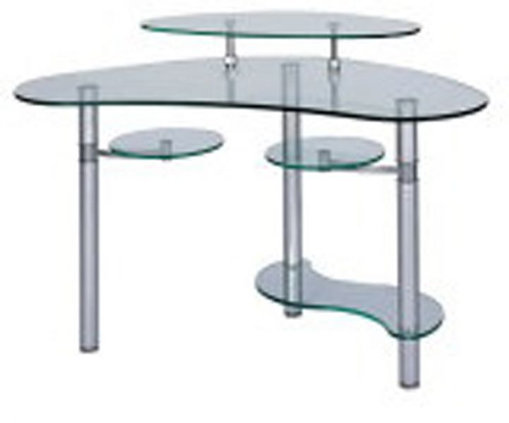 Custom computer desk glass computer table computer carts Designer glass computer desk