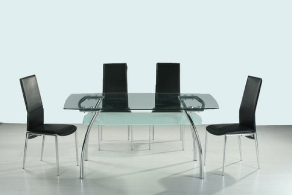 Metal Glass Dining Room Set