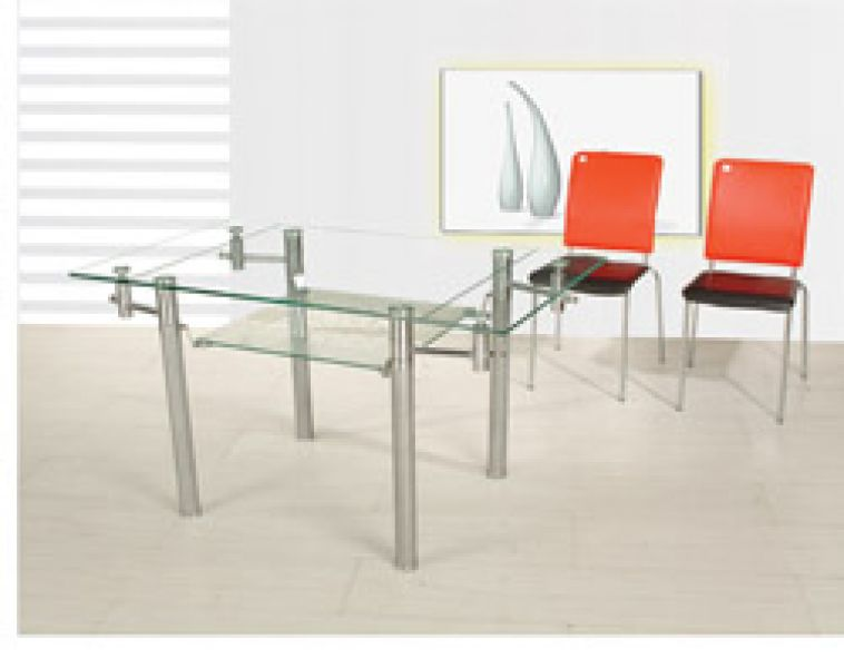 Dining table rectangle dining table glass for Dining room glass table