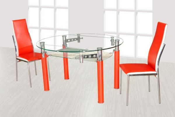 Oval Glass Dining Table Sets,Modern Oval Glass Dining Table,Oval Glass