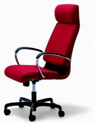 Office Chair On Red Swivel Adjule