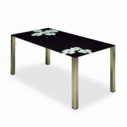 Black Painting Dining Table