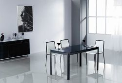 Chrome Steel Dining Table