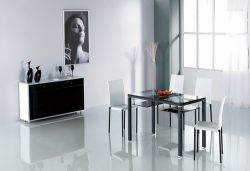 Extensible Tempered Glass Dining Table